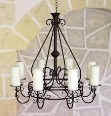 Kronleuchter 101318 Kerzenhalter D 60cm Kerzenständer Hängeleuchter Aus Metall