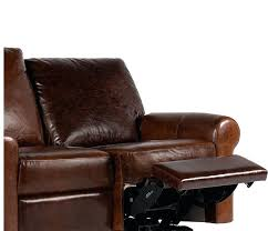 real leather loveseat tanner reclining home improvement