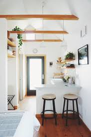 Kitchen Tables Portland Oregon Exposed Beams In The Portland Tiny House Tiny House Pinterest