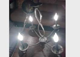 bronze 4 light candle style chandelier