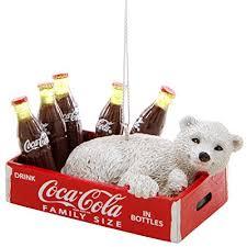 Coke Polar Bear In Bottle Vending Machine Cool Amazon Kurt Adler CocaCola Polar Bear In Crate Ornament Home