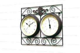 outdoor wall clock and thermometer enterprises metal for set remodel 17