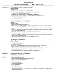 Resume Internship Samplechnology Samples Velvet Jobs Pdf Examples