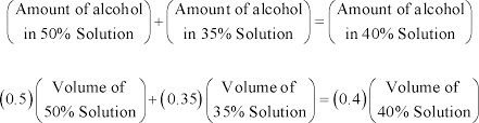 Algebra - Applications of Linear Equations