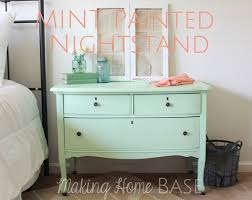 upcycled mint painted nightstand