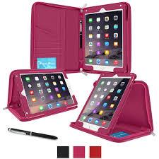roocase executive portfolio leather case smart cover for ipad air 2 magenta