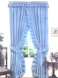 stacey one rod criss cross ruffled priscilla window curtains with tie backs available in choice of 7 solid color fabrics ruffled criss cross priscilla
