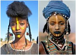 braids and beads from the wodaabe tribe of the sahel region and west africa