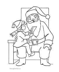 Small Picture Free Santa Claus Coloring Sheets Kid On Santas Lap