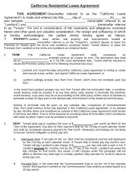 Residential Lease Agreement Template Free Download Printable Room ...