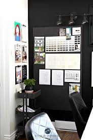 home office ikea. Ideas For Ikea Raskog Cart And Desks In Home Office With Large Corkboard Feature Wall Tricorn Black Cloud White.