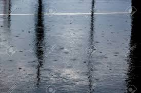 Looking For The Light Through The Pouring Rain The Pouring Rain With A Thunderstorm And A Thunder Water Flows