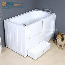 pet bathtub high quality pet bathtub animal dog bathtub acrylic belt open the door portable pet pet bathtub
