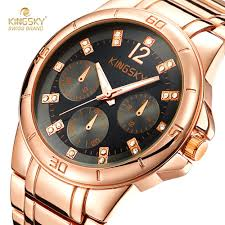 online get cheap quality fake watches aliexpress com alibaba group high quality 18k rose gold watches men kingsky luxury brand steel watch band analog quartz watches for men fake watches