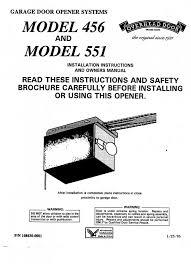 overhead door model 456 program remote