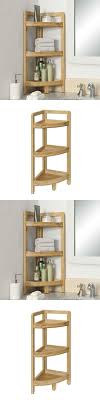 Short Small Corner Bathroom Storage Cabinet Mixed Yellow Wall For