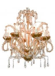 jansen gilt metal crystal chandelier