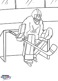 Small Picture Coloring Pages Hockey Player Coloring Page Free Printable
