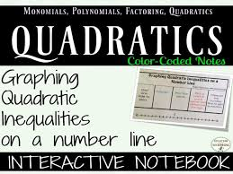 graphing quadratic inequalities on a number line interactive notebook
