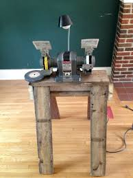 picture of attach bench grinder to the stand