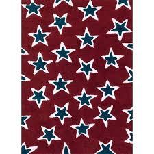 navy star rug hand tufted red navy rock star rug x 5 x 7 navy star rug