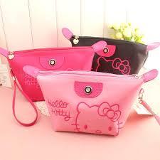 kitty portable travel cosmetics bag makeup bag stationary bag