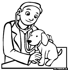 Free, printable easter coloring pages are fun! Veterinarian Coloring Page Free Veterinarian Online Coloring Pets Preschool Preschool Coloring Pages Pets Preschool Theme