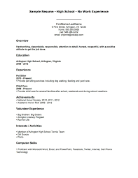 Work History Resume Example No Work History Resume Resume Online Builder 47