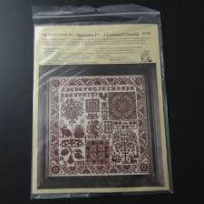 the heart s content splendor 1 a colonial coverlet cross stitch kit 69