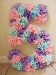 tissue paper birthday number