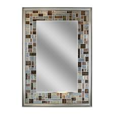 allen + roth Gray/Browns Polished Wall Mirror