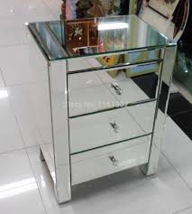 Mirrored Side Tables Bedroom Aliexpresscom Buy Mr 401002 Beveled Edged Mirrored Night Stand