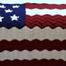 American Flag Crochet Pattern Mesmerizing Crochet Afghan Blanket American Flag Red From LittlestSister On