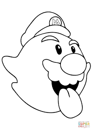Small Picture Boo Mario coloring page Free Printable Coloring Pages
