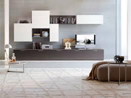 Wall Unit Furniture Living Room Furniture Floating Modern Storage Wall Unit On Grey Wall Modern