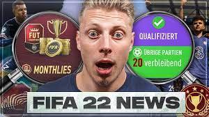 OHA! MONTHLY REWARDS KOMMEN ZURÜCK?! NUR 20 FUT CHAMPIONS SPIELE! FIFA 22 -  NEWS #2 - YouTube