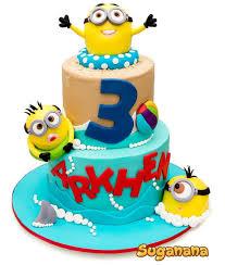 Minions Party Minions Beach Party Birthdays Cake And Cake Minion