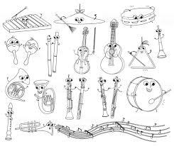 Grappige Muziekinstrumenten Vector Kleurplaten Voor Kids