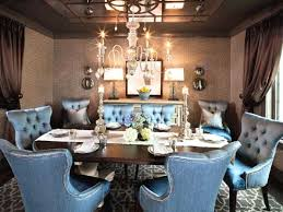 ont blue upholstered dining room chairs
