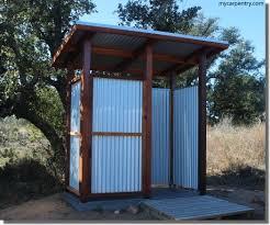 outdoor shower stalls
