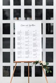 Calligraphy Wedding Seating Chart Claire Modern Calligraphy Seating Chart Dearlc