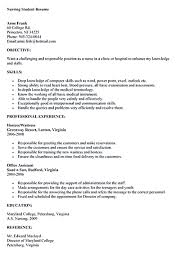 nursing student resume must contains relevant skills experience