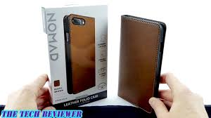 nomad leather folio a slim classy premium leather wallet case for iphone 7 plus you