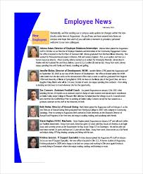 Employee Newsletter Templates Free Sample Employee Newsletter Template 9 Free Documents Download In
