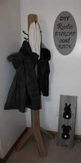 Make Your Own Coat Rack How to Create a Rustic Burlap Coat Rack Diy coat rack Simple diy 92