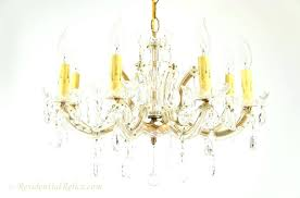 crystal chandelier 8 candle maria style circa chandeliers antique italian bronze and ch