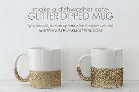 this blogger says her dishwasher safe glitter mug held up after 6 months here are