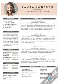 Curriculum Vitae Samples Fascinating cv with photo template
