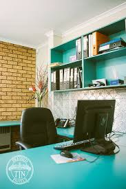 office feature wall. Clover Pattern Installed As An Office Feature Wall