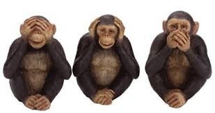 Image result for see no evil speak no evil monkeys